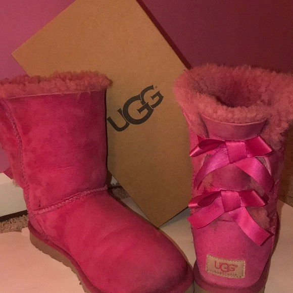 UGG Shoes | Womens Pink Bailey Bow Uggs